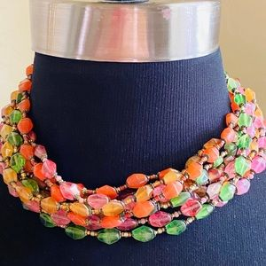 Vintage Miriam Haskell Fruit Salad Necklace